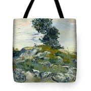 Vincent Van Gogh, The Rocks Tote Bag