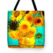 Vincent's Sunflowers 4 Tote Bag
