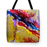 Vines And Glow Abstract Tote Bag