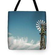 Vines Growing Up A Windmill In Canada Tote Bag by Bryan Mullennix