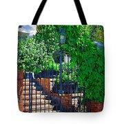 Vines Over Gate Tote Bag
