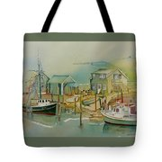 Vineyard Boats Tote Bag
