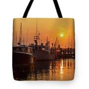 Vineyard Haven Harbor Sunrise II Tote Bag
