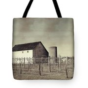 Vineyard In Winter Tote Bag