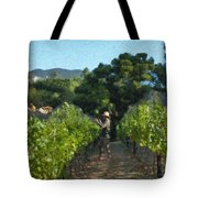 Vineyard Sauvignon Blanc Grapes Tote Bag