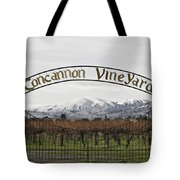 Vineyard Under Snow Tote Bag