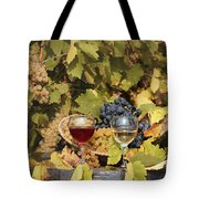 Vineyard With Red And White Wine Autumn Season Tote Bag