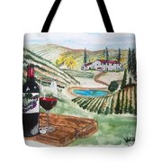 Vineyards Of Tuscany  Tote Bag