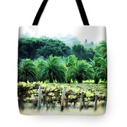 Vino Palmetto Tote Bag