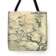 Vintage 1692 Map Of Salem Massachusetts - 1866 Tote Bag