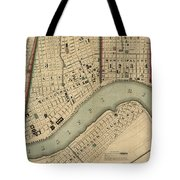 Vintage 1840s Map Of New Orleans Tote Bag
