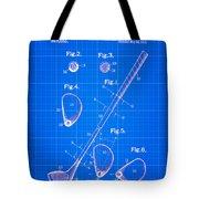 Vintage 1910 Golf Club Patent Blue Print Tote Bag