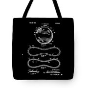 Vintage 1928 Baseball Patent Black Tote Bag