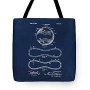 Vintage 1928 Baseball Patent Blue Tote Bag