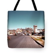 Vintage 1950s View Of Congress Avenue Looking North From South Congress To The Capitol Tote Bag