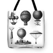 Vintage Aeronautics - Early Balloon Designs Tote Bag