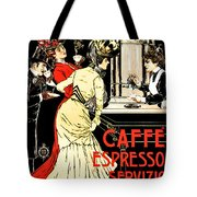 Vintage Antique Italian Coffeehouse Advertising Tote Bag