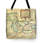 Vintage Antique Map Of The Great Lakes Tote Bag