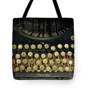 Vintage Antique Typewriter - Text Me - Antique Typewriter Keys Print Black And Gold Tote Bag