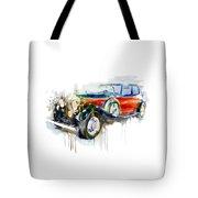 Vintage Automobile Tote Bag