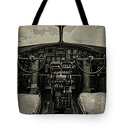 Vintage B-17 Cockpit Tote Bag
