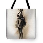 Vintage Ballet Dancer On Pointe Tote Bag