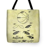 Vintage Basketball Patent Tote Bag