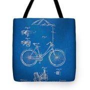 Vintage Bicycle Parasol Patent Artwork 1896 Tote Bag