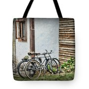 Vintage Bicycles The Journey Tote Bag