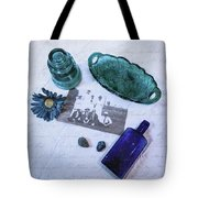 Vintage Blue Tote Bag