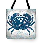 Vintage Blue Crab Tote Bag