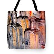 Vintage Bottles At A Flea Market Neg Tote Bag