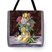 Vintage Bouquet With Fruits And Butterfly  Tote Bag