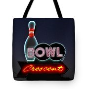 Vintage Bowling Neon Sign Tote Bag