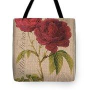 Vintage Burlap Floral 3 Tote Bag