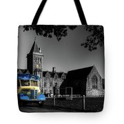 Vintage Bus At Taunton School Tote Bag