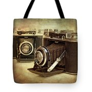Vintage Cameras Tote Bag by Meirion Matthias