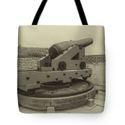 Vintage Cannon At Fort Moultrie Tote Bag