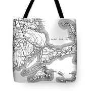 Vintage Cape Cod Old Colony Railroad Map Tote Bag