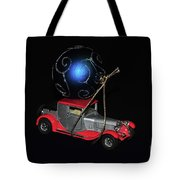 Vintage Car Carrying Christmas Ornament Tote Bag
