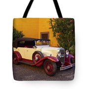 Vintage Car In Funchal, Madeira Tote Bag