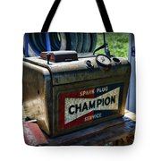 Vintage Champion Spark Plug Cleaner Tote Bag