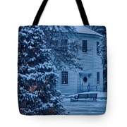 Vintage Christmas Church In Vermont Tote Bag