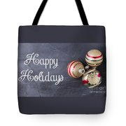 Vintage Christmas Ornaments With Copy Space Tote Bag
