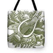 vintage Christmas poster musical instruments  Tote Bag