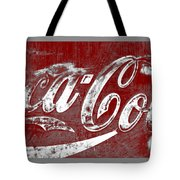 Coca Cola Red And White Sign Gray Border With Transparent Background Tote Bag