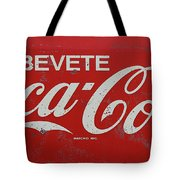 Vintage Coca Cola Sign Tote Bag