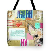 Vintage Collage Chihuahua Tote Bag