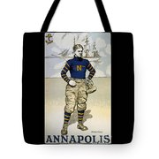 Vintage College Football Annapolis Tote Bag