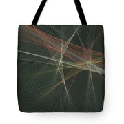 Vintage Computer Graphic Line Pattern Tote Bag